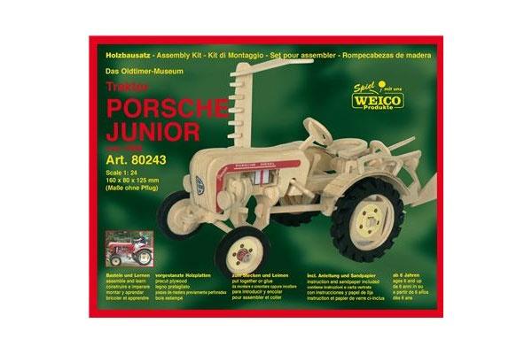 Holzbausatz Porsche Traktor Junior Oldtimer