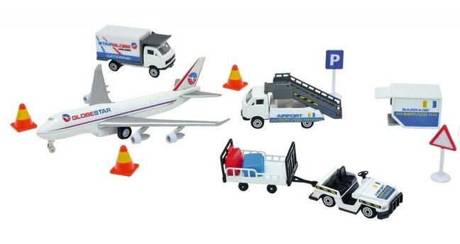Airport Flughafen Spielset Set mit Fahrzeugen
