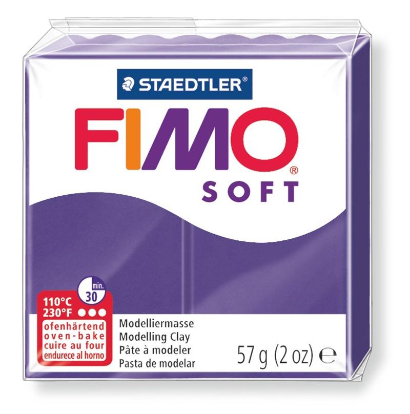 Staedtler Modelliermasse Fimo soft pflaume 57 g