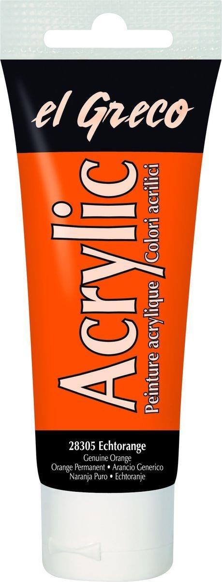 El greco Acrylic Acrylfarbe echtorange 75 ml