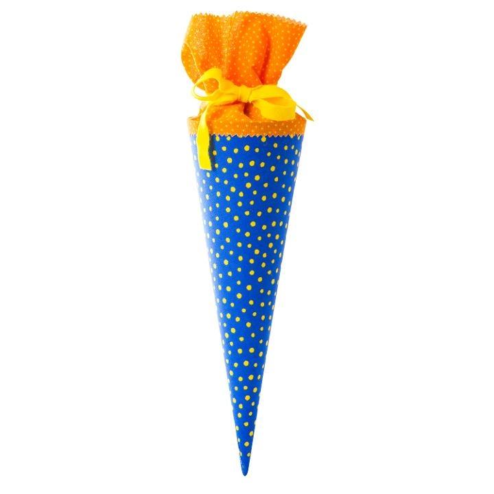 Goldbuch Stoff-Schultüte blau-gelb 35 cm