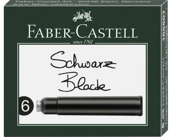 Faber Castell Tintenpatronen brilliant-schwarz 6er