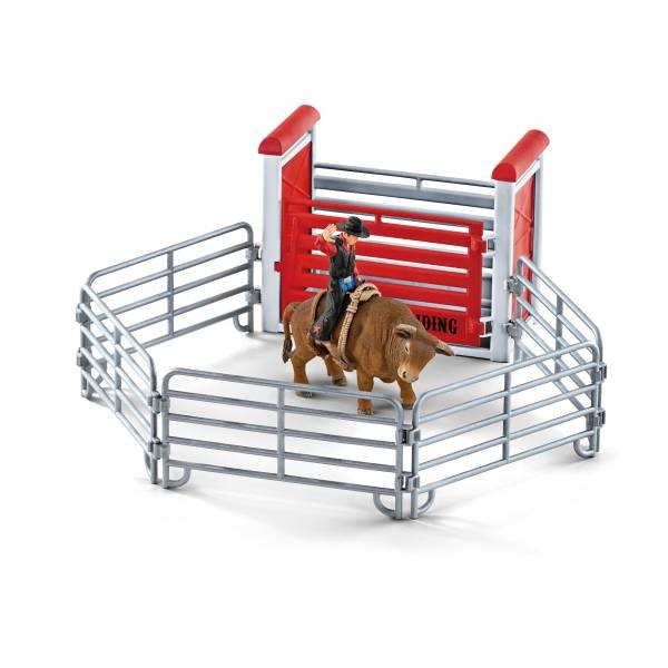 Schleich Farm World Bull riding mit Cowboy 41419