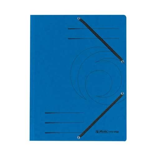 Einschlagmappe A4 mit drei Klappen und Gummizug blau
