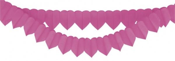 Herzgirlanden pink 2 Stück