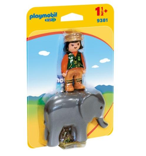 Playmobil 9381 1.2.3 Tierpflegerin mit Elefant