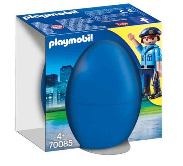 Playmobil Ei 70085 Polizist mit Spürhund