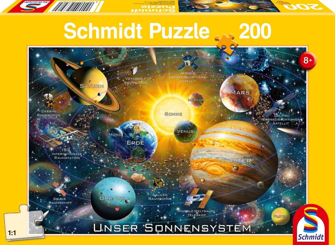 Schmidt Spiele Puzzle Unser Sonnensystem 200 Teile