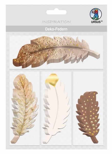 Bastelmaterial Deko-Federn natur