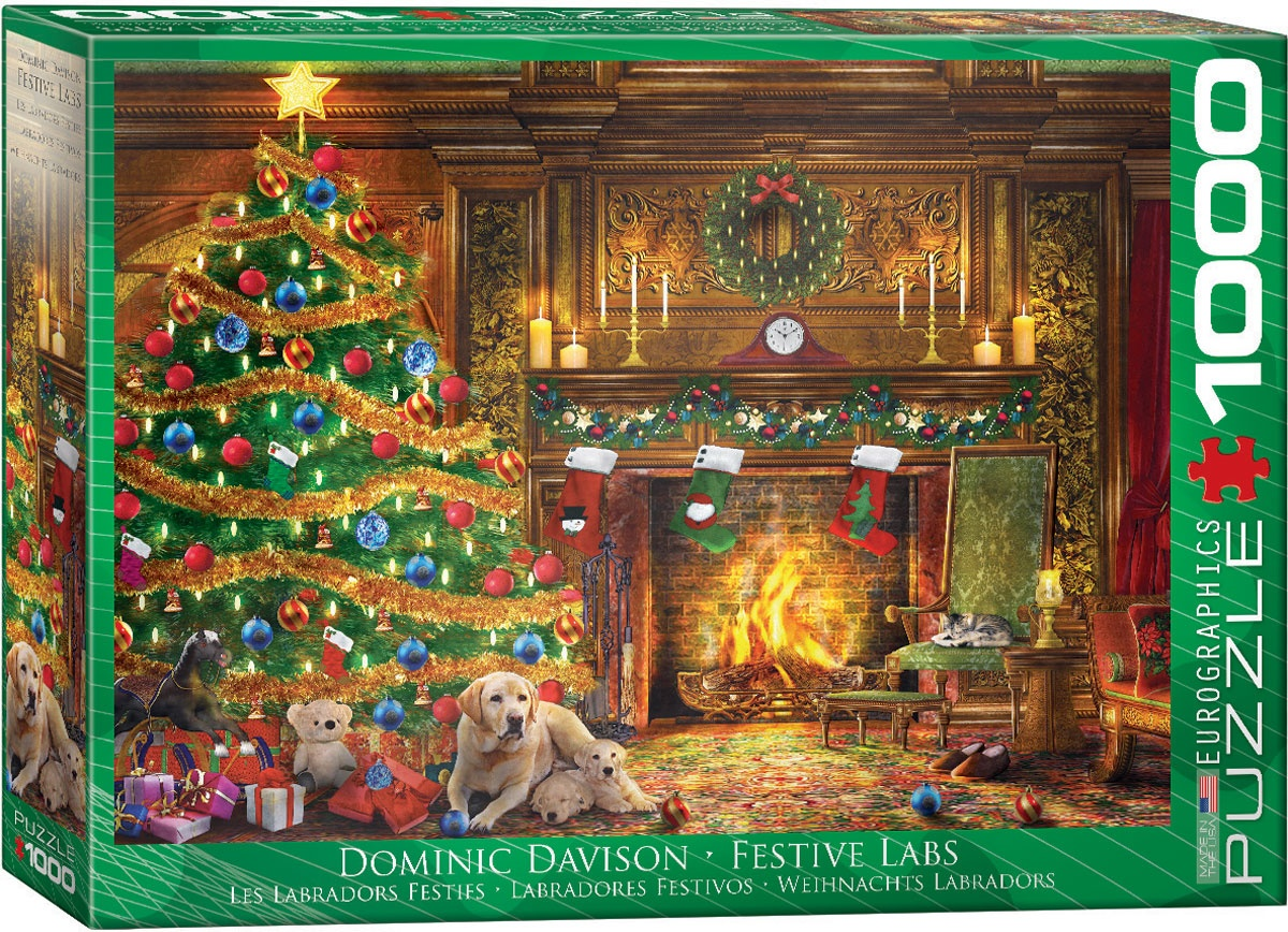 Puzzle Weihnachts Labradors 1000 Teile