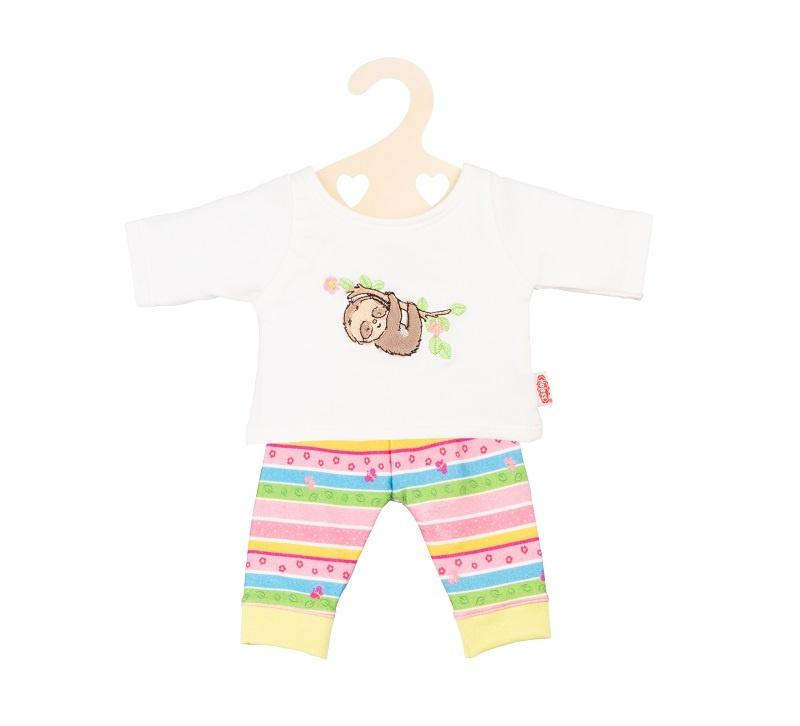 Heless Puppenkleidung Pyjama Faultier Flauschi Gr. 28 -35 cm