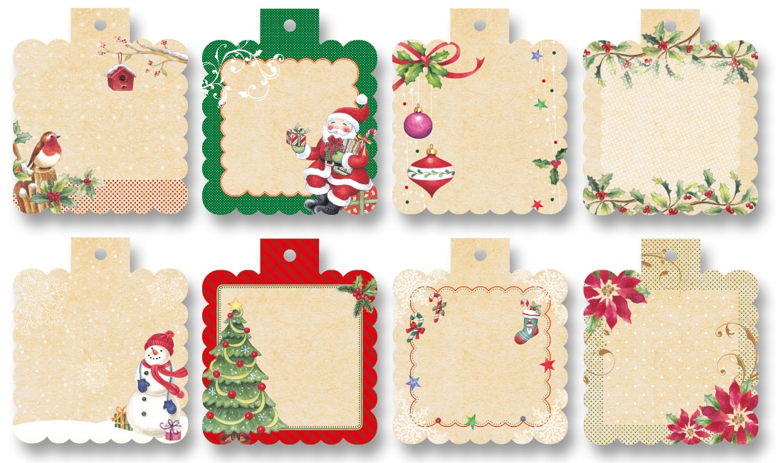 Folia Designpapier Mini-Cutties Weihnachten