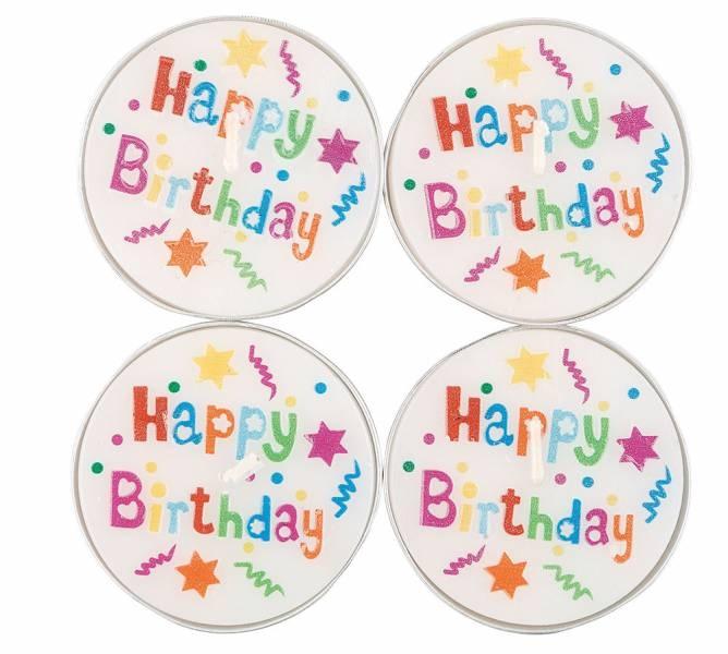 Teelicht Happy Birthday