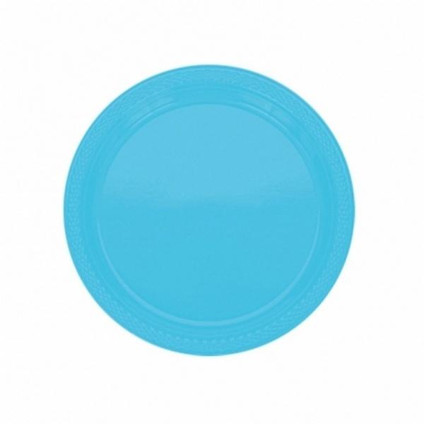 Partyteller Kunststoff 10 Stück azurblau