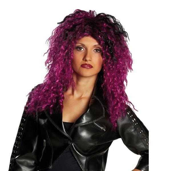 Kostüm-Zubehör Perücke violett schwarz