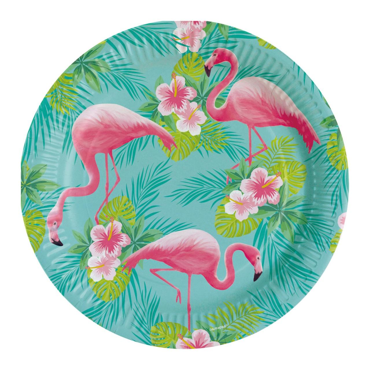 Partyteller Flamingo 8 Stück 23 cm