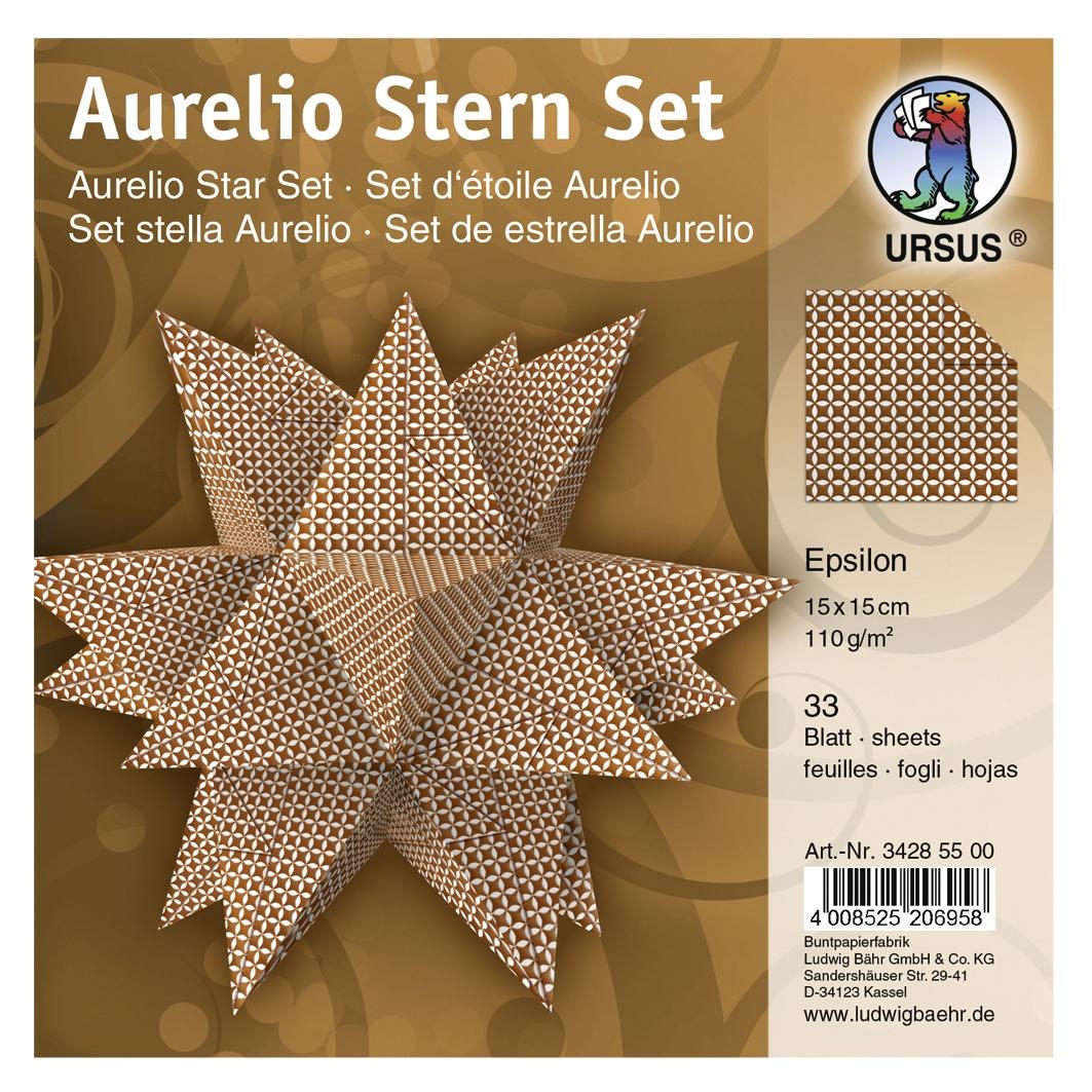 Faltblätter Aurelio Stern Set Epsilon 15 x 15 cm