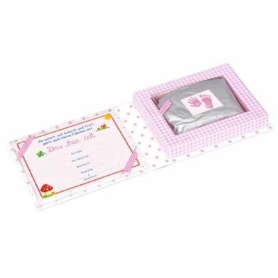 Spiegelburg Babyglück Set für Hand-und Fußabdruck rosa
