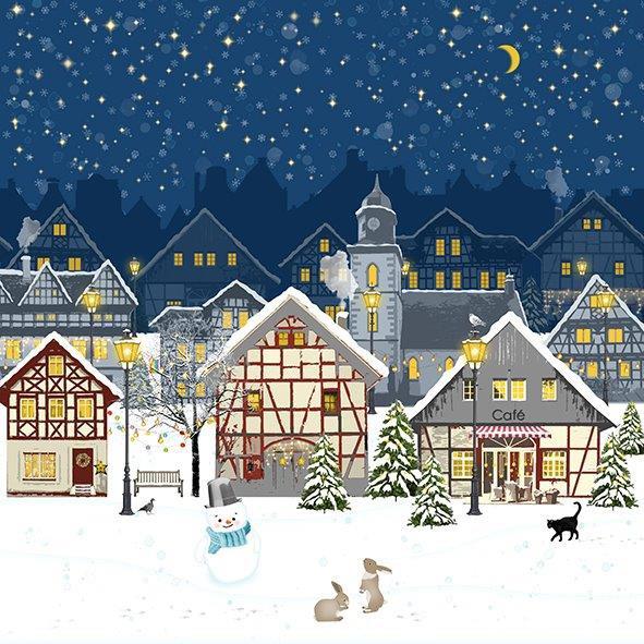 Servietten Weihnachten Winterheimat 33 x 33 cm
