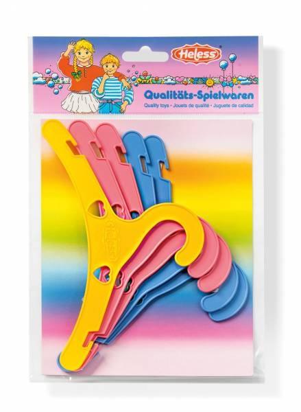 Heless Bunte Puppenkleiderbügel 5 Stück