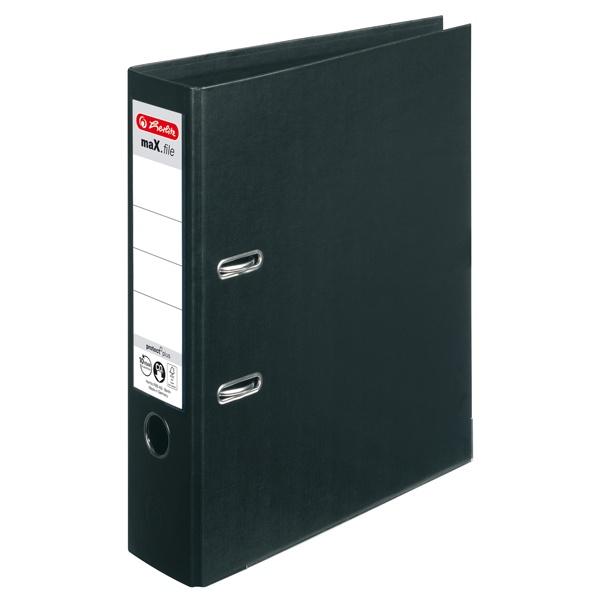 Ordner A4 max.file protect schwarz 8 cm von Herlitz