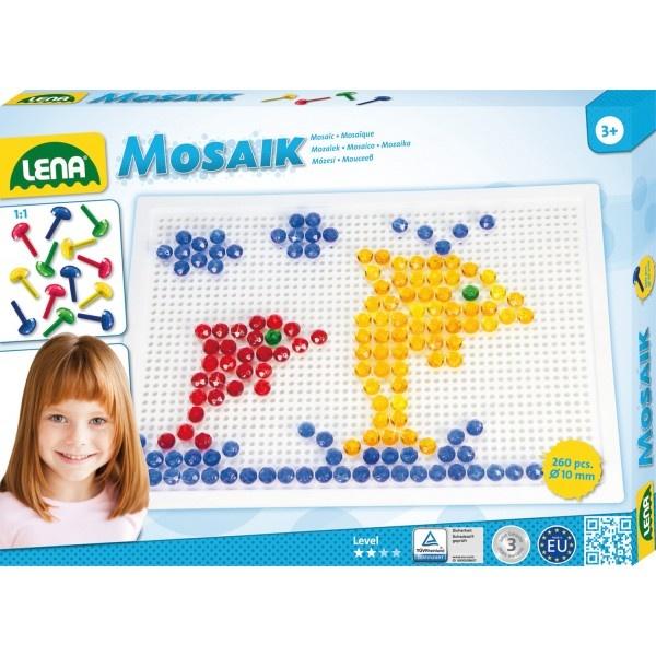 Mosaik-Set 260 Stecker transparent 10 mm