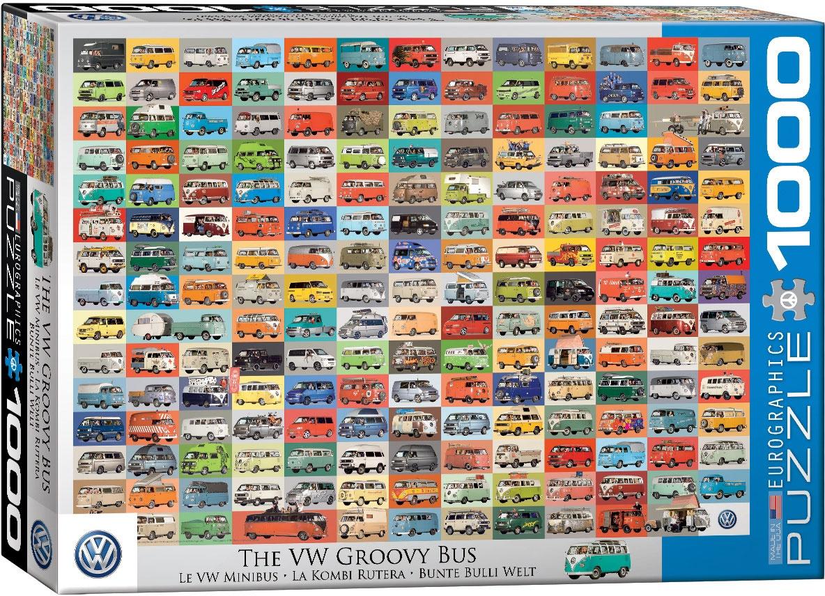 Puzzle Bunte Bulli Welt 1000 Teile