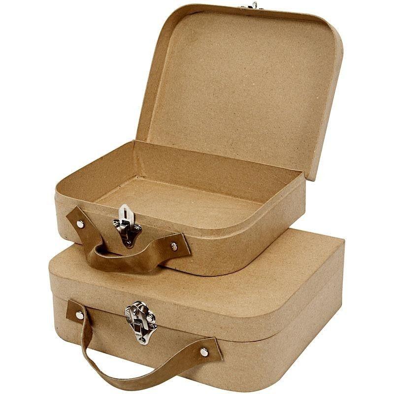 Pappmaché Koffer-Set zum Selbstgestalten
