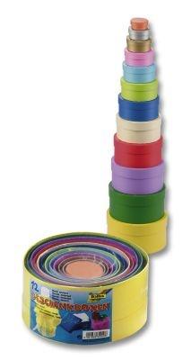 Folia Geschenkboxen rund farbig 12 Stück