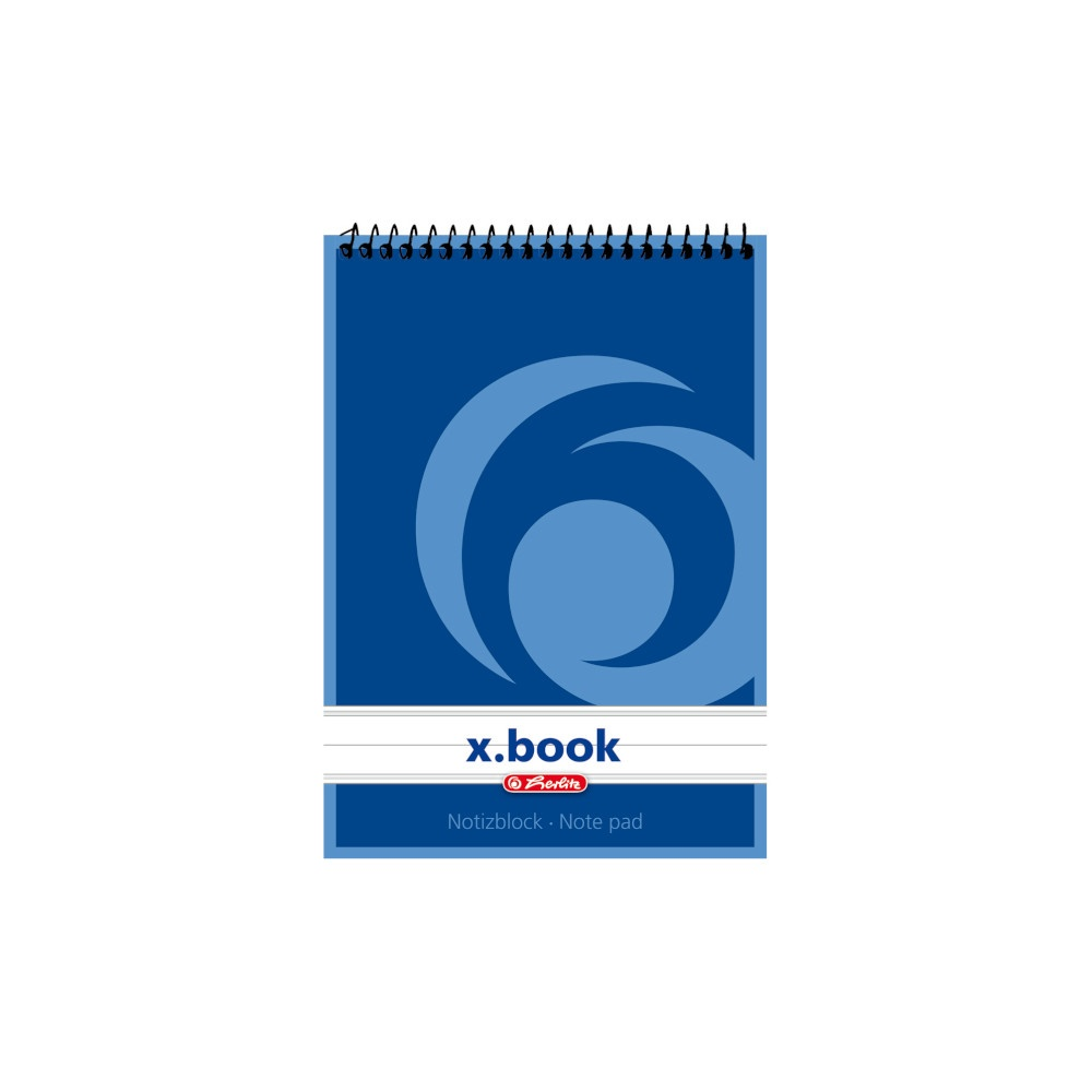 Herlitz Spiralnotizblock A6 liniert 50 Blatt