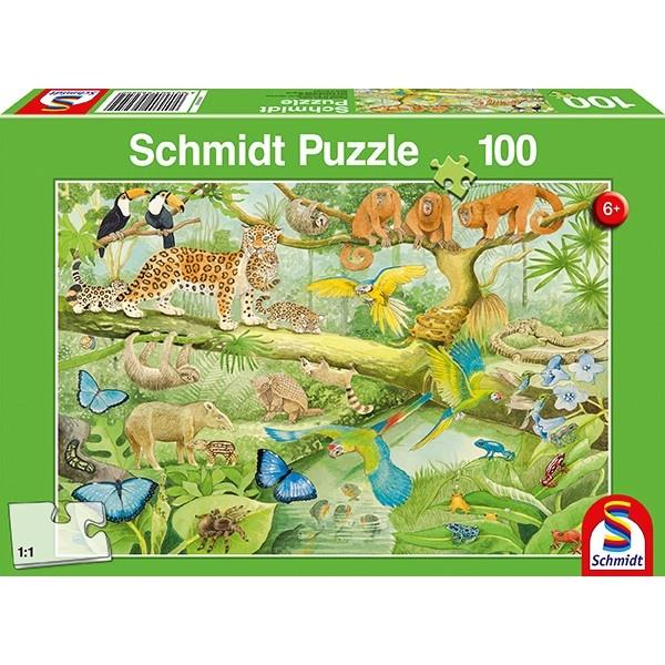 Schmidt Spiele Puzzle Tiere im Regenwald 100 Teile