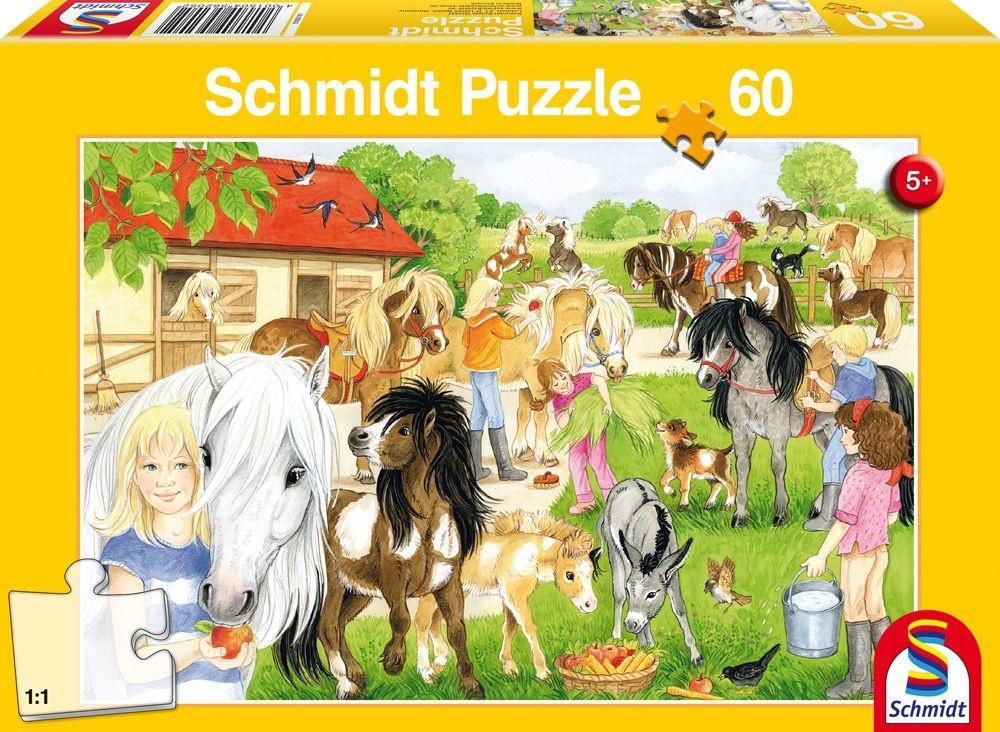 Schmidt Spiele Puzzle Spass auf dem Ponyhof 60 Teile