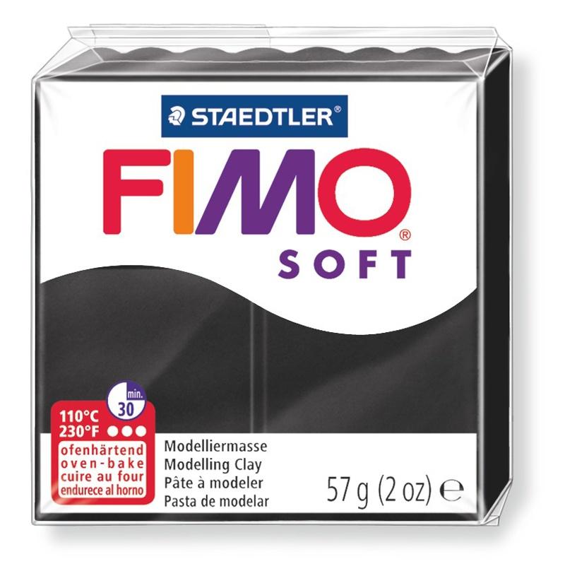 Staedtler Modelliermasse Fimo soft schwarz 57 g