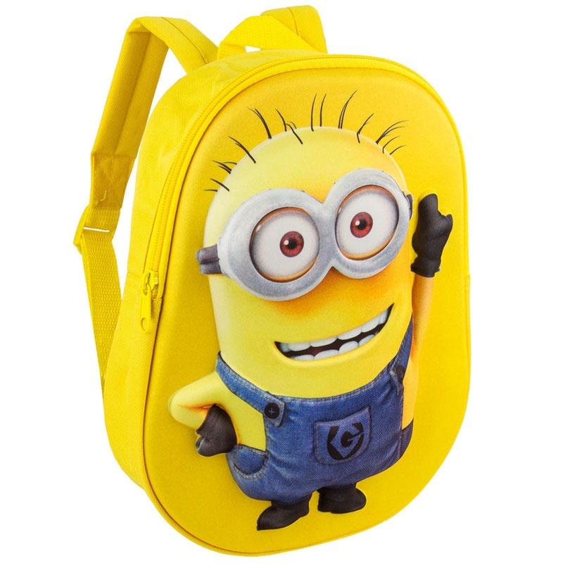Minions Kinderrucksack 3D gelb