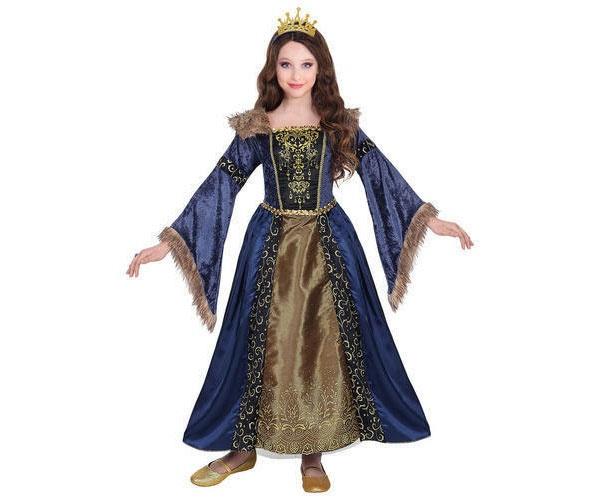 Kostüm Mittelalter Königin Gr. 128