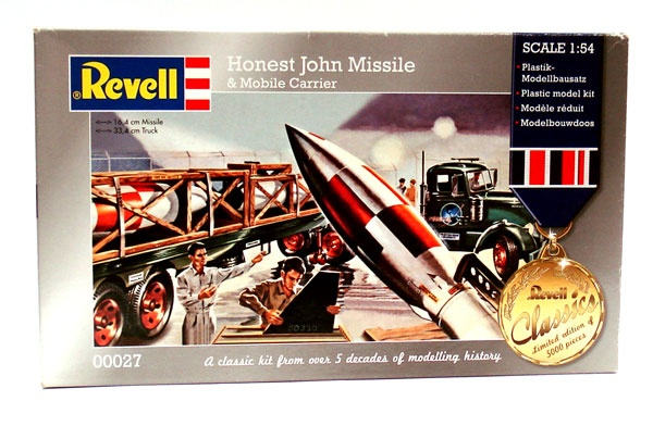 Revell 00027 Honest John Missile & Mobile Carrier 1:54