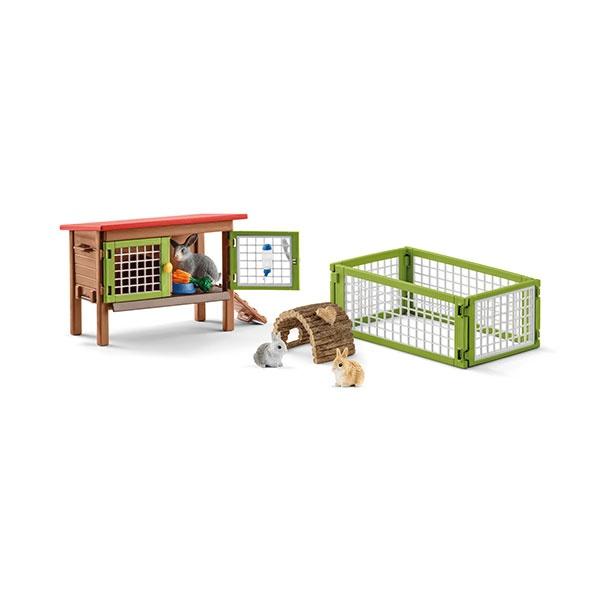 Schleich Farm World Kaninchenstall 42420