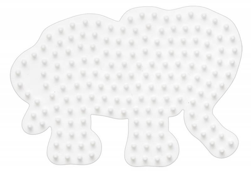 Hama Bügelperlen Stiftplatte Kleiner Elefant
