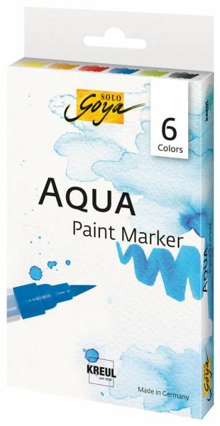 SOLO GOYA Aqua Paint Marker Set 6 Stück Packung