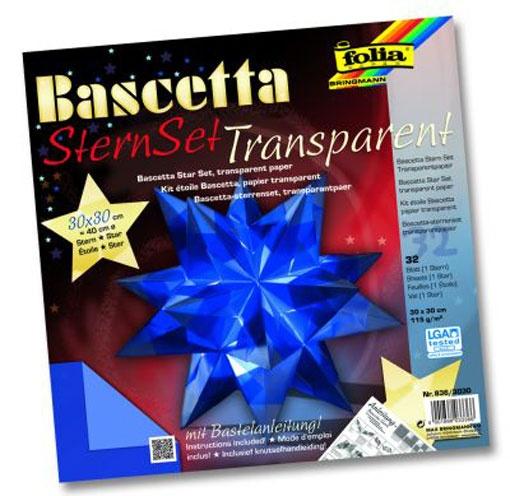 Folia Bastelset Bascettastern blau 30 x 30