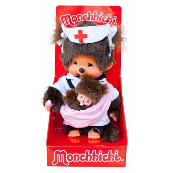 Monchhichi Hebamme/Krankenschwester, 20cm