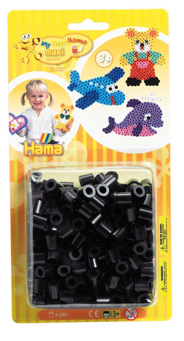 Hama 8618 Bügelperlen Maxi 250 schwarz