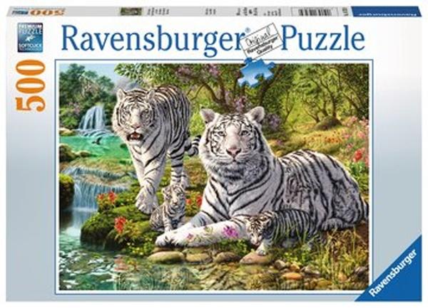 Ravensburger Puzzle Weiße Raubkatze 500 T.