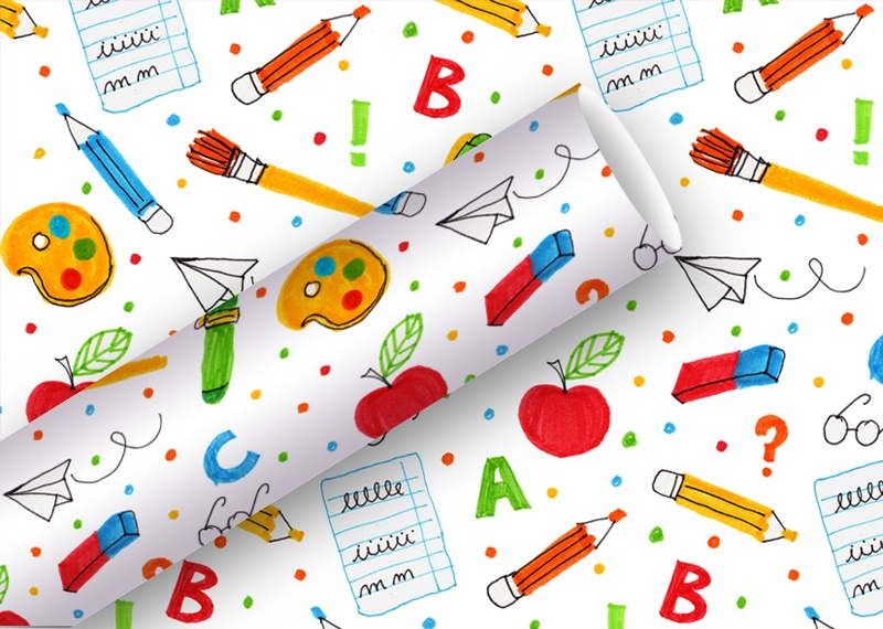 Geschenkpapier Schule