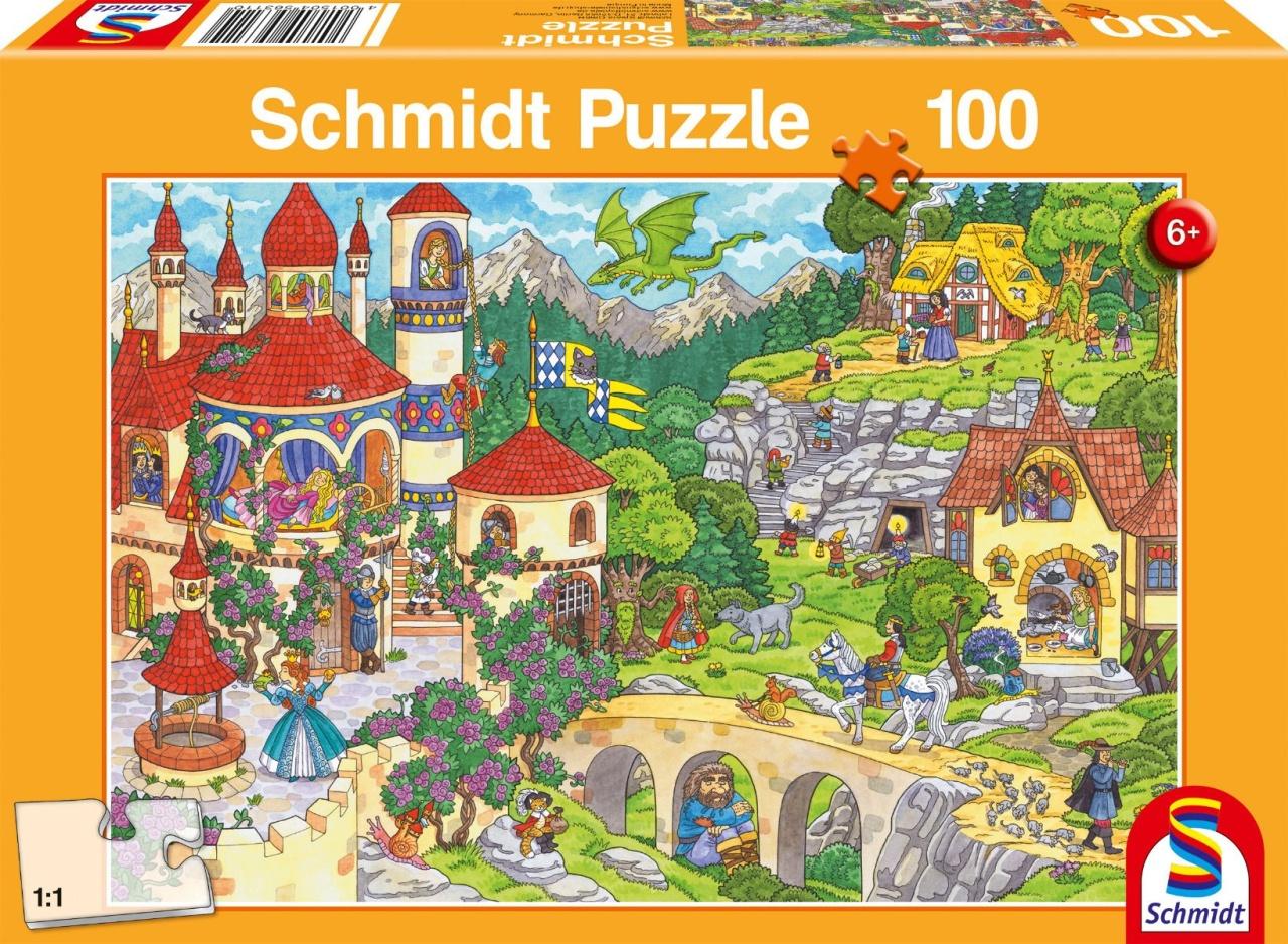Schmidt Spiele Puzzle Im Land der Märchen 100 Teile