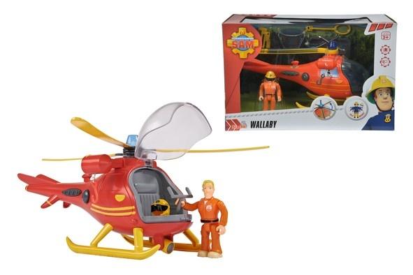 Feuerwehrmann Sam Hubschrauber mit Figur