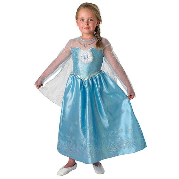 Kostüm Frozen Elsa Deluxe blau S 3-4 Jahre
