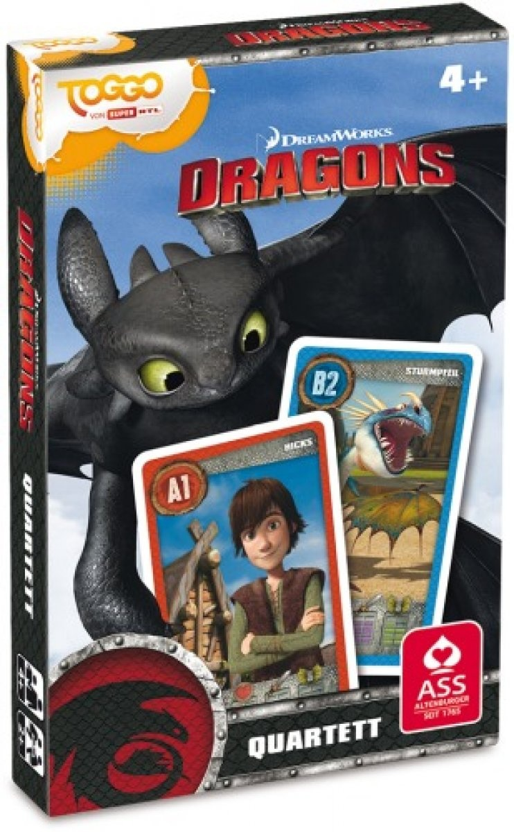 Dreamworks Dragons Quartett
