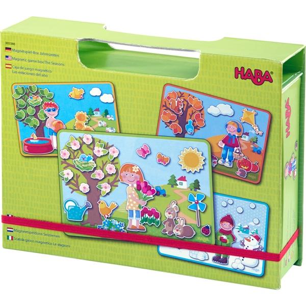 Haba 303386 Magnetspiel-Box Jahreszeiten