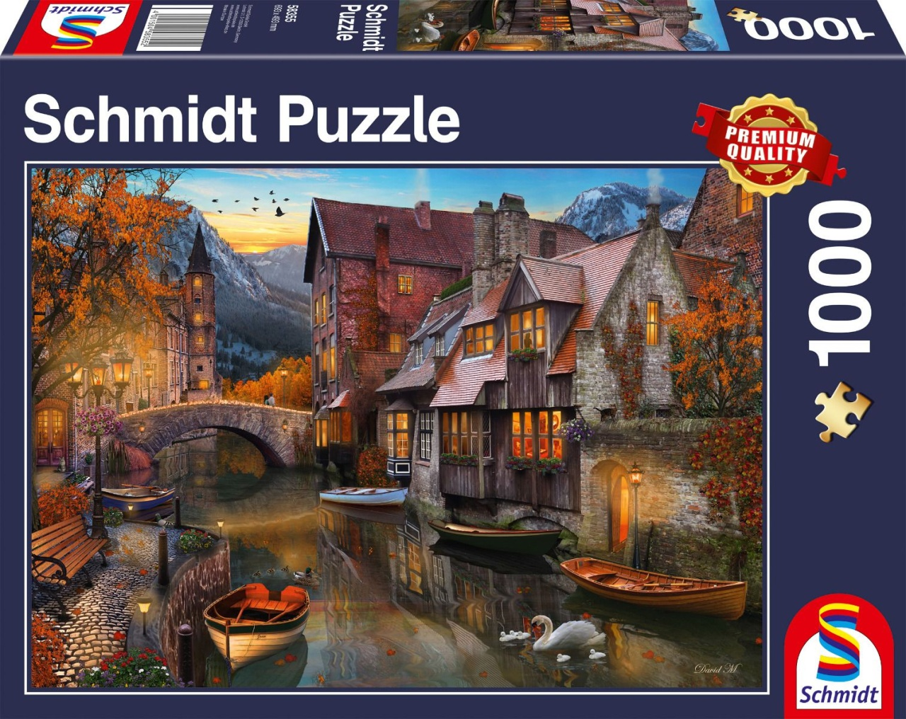 Schmidt Spiele Puzzle Heimat am Kanal 1000 Teile